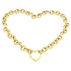 18K Gold Tiffany & Co. Heart Link Necklace