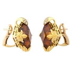 Carrera y Carrera Diamonds Citrines Earrings