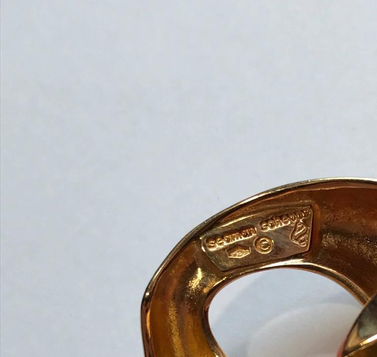 Seaman Schepps Coral 18 Karat Yellow Gold Bracelet In Good Condition In Milano, IT