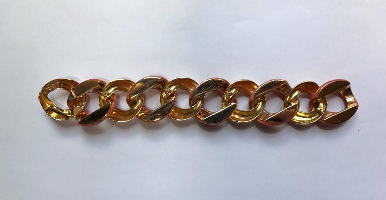 Seaman Schepps Coral Yellow Gold Bracelet In New Condition In Milano, IT