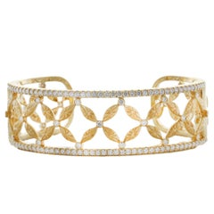 Mark Patterson Diamond Hinged Cuff Bracelet