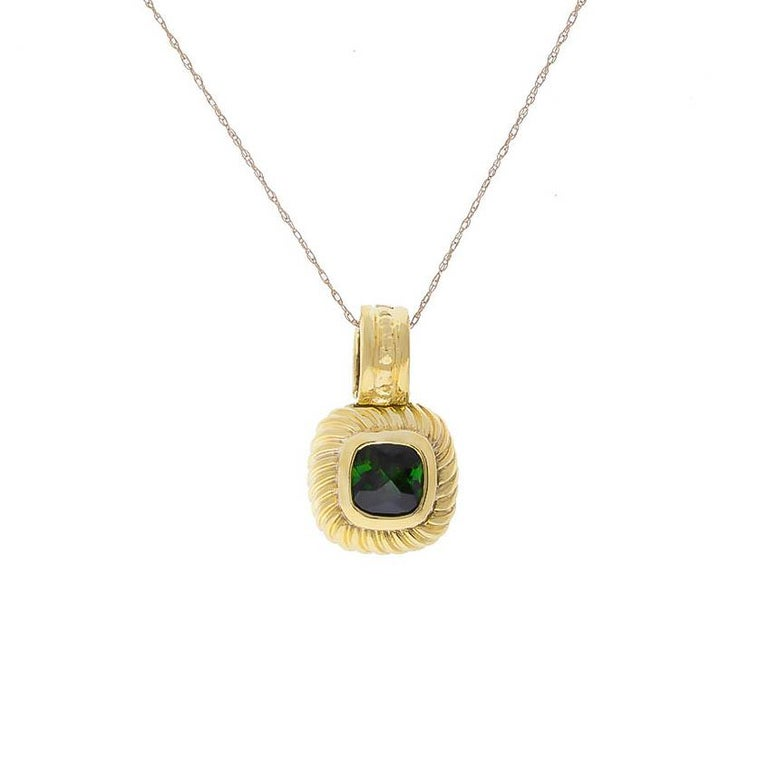 Yellow Gold David Yurman Green Tourmaline Enhancer