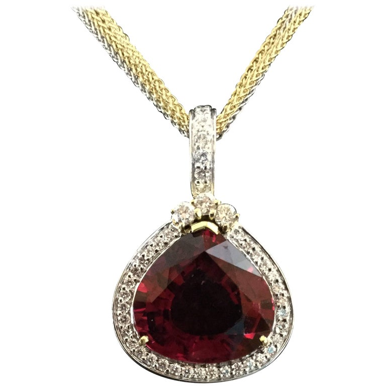 Spark One-of-Kind Rubellite and Diamond Enhancer