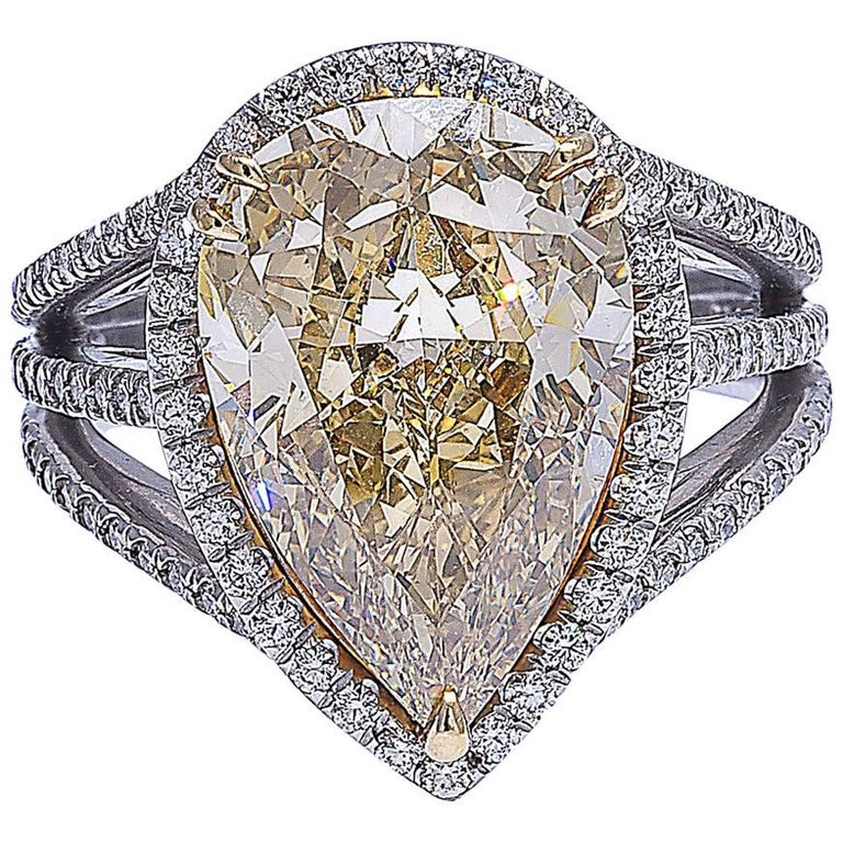Mark Patterson GIA Certified Fancy Color Yellow Diamond Ring