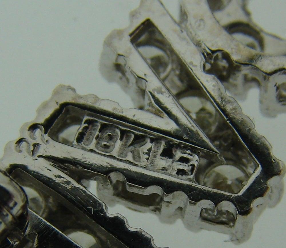 Women's or Men's Diamond White Gold LOVE Pin Brooch