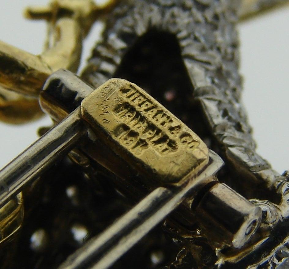 Tiffany & Co. Diamond Gold Platinum Jockey Horse Pin Brooch For Sale 2