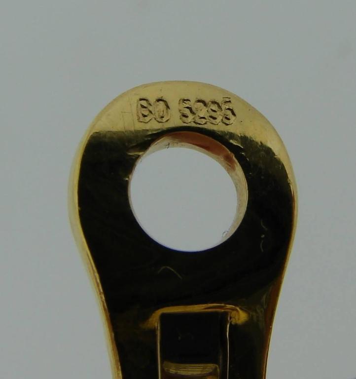 1980s Bulgari Sapphire Hematite Gold Earrings For Sale 5