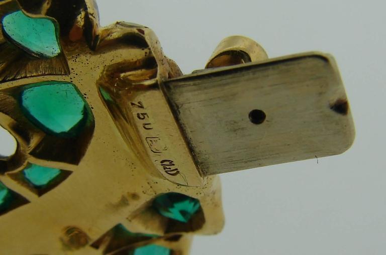 Michele della Valle Emerald Fancy Yellow Diamond Gold Bracelet For Sale 4