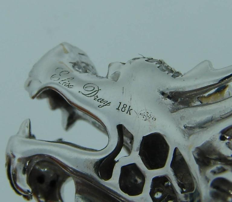 Elise Dray Diamond Gold Mechanical Dragon Ring  7