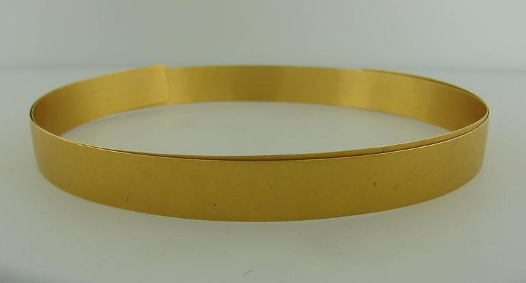 Yellow Gold Choker Necklace 3