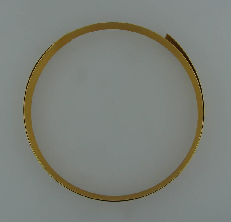 Yellow Gold Choker Necklace 4