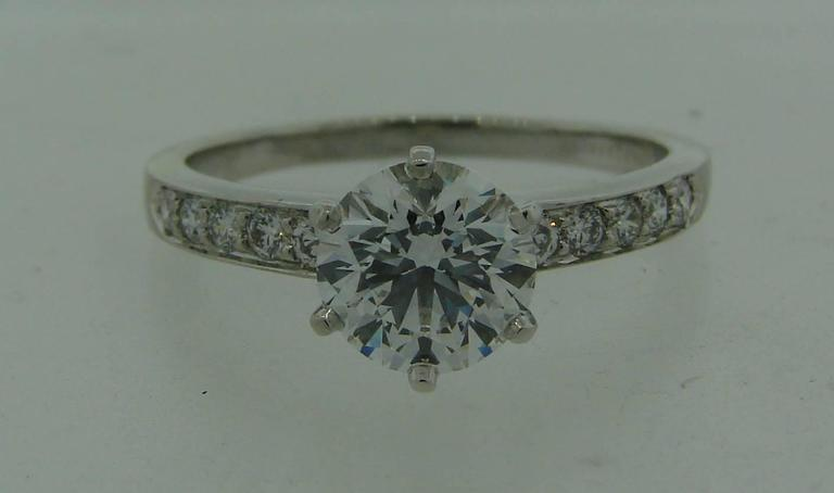 Tiffany & Co. 1.50 Carat Diamond Platinum Ring 2