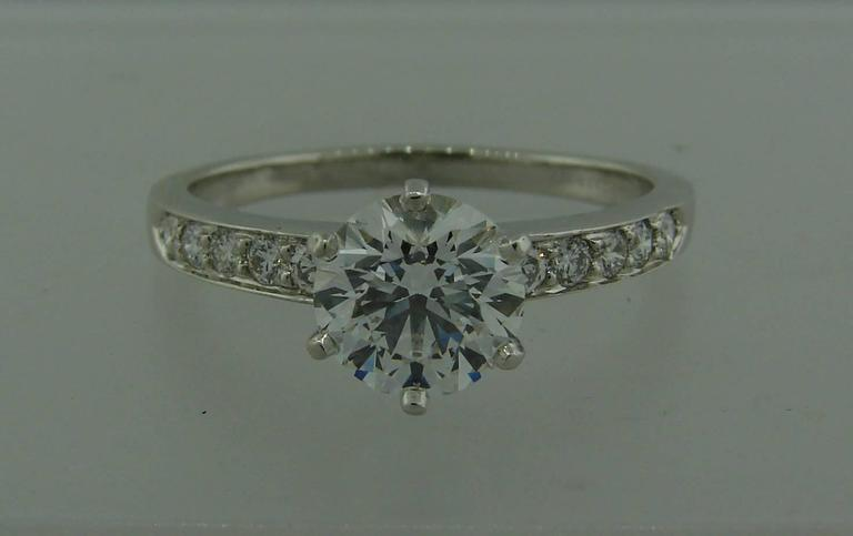 Tiffany & Co. 1.50 Carat Diamond Platinum Ring 3