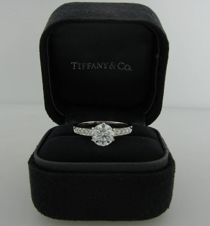Tiffany & Co. 1.50 Carat Diamond Platinum Ring 6
