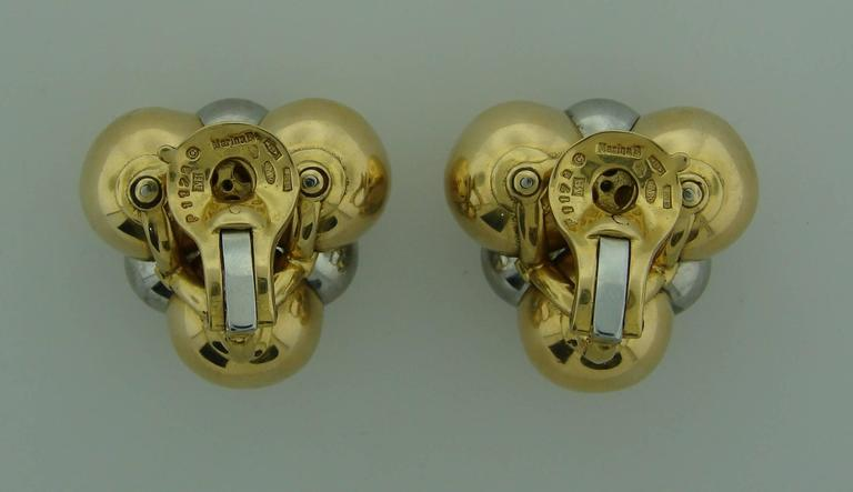 Women's 1980s Marina B Gold Earrings For Sale