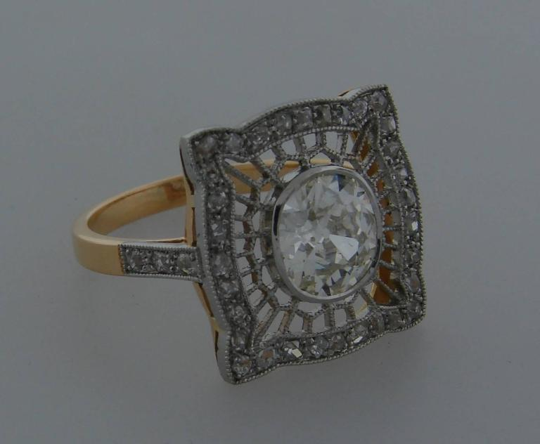 Delicate and elegant ring created in the 1960's as an Edwardian Revival piece. 