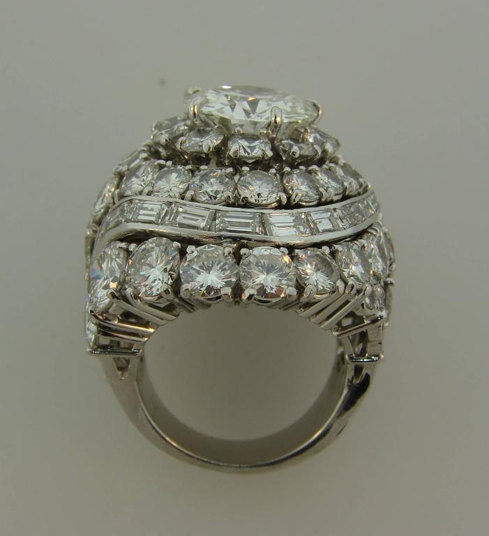 David Webb Diamond Platinum Cocktail Ring For Sale 2