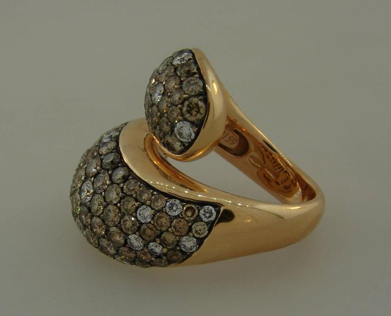 De Grisogono Diamond Rose Gold Stylized Snake Ring 4