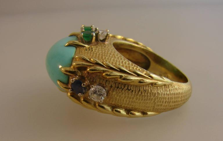 Vintage Cartier 18k Yellow Gold Cocktail Ring  1
