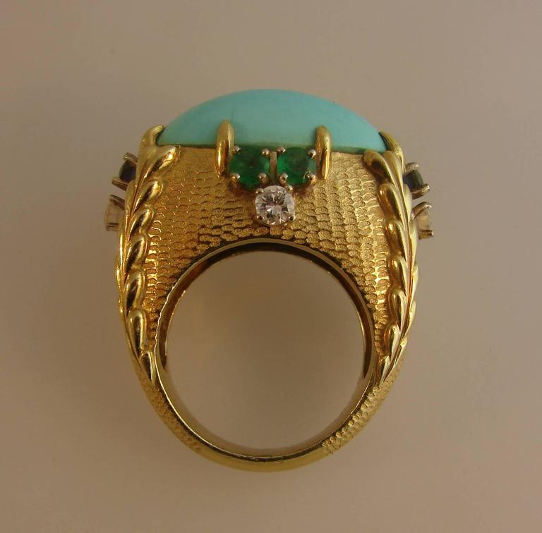 Vintage Cartier 18k Yellow Gold Cocktail Ring  2