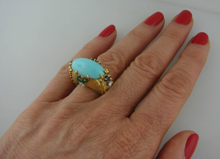Vintage Cartier 18k Yellow Gold Cocktail Ring  3
