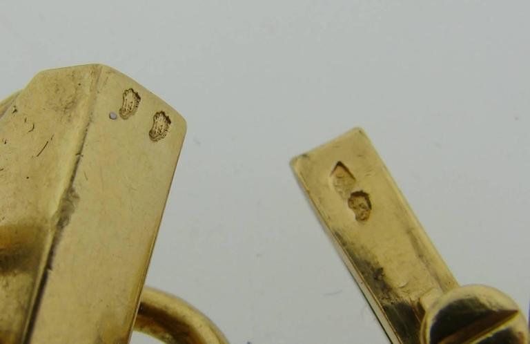 1970s French Malachite Gold Charm Bead Bracelet  5