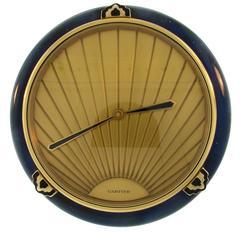 Cartier Bakelite Enamel Brass Desk Table Clock