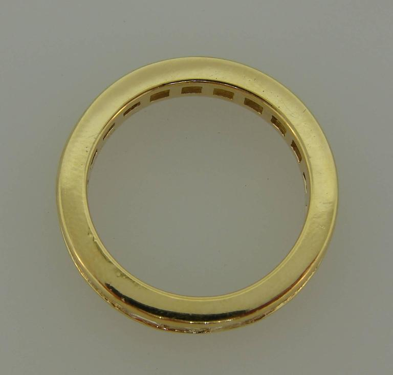 Tiffany & Co. Diamond Yellow Gold Eternity Band Ring In Excellent Condition For Sale In Beverly Hills, CA