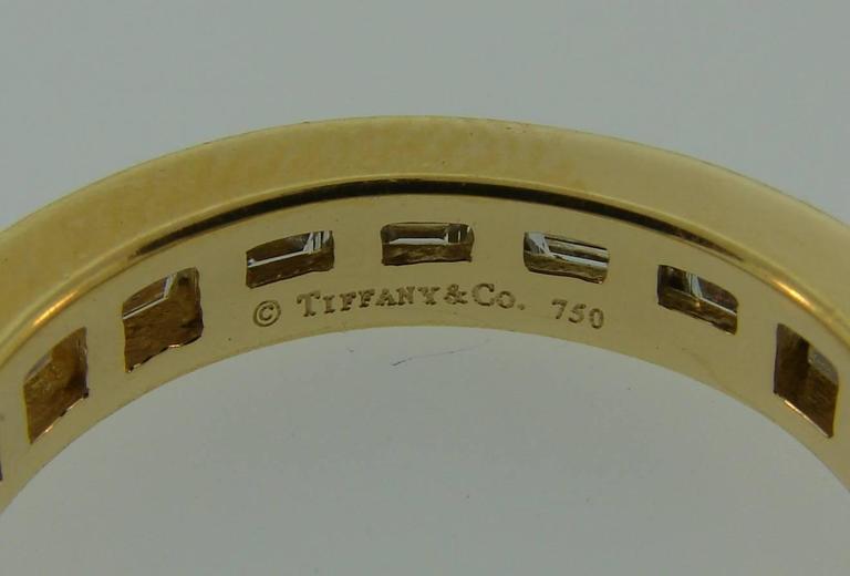 Tiffany & Co. Diamond Yellow Gold Eternity Band Ring 6