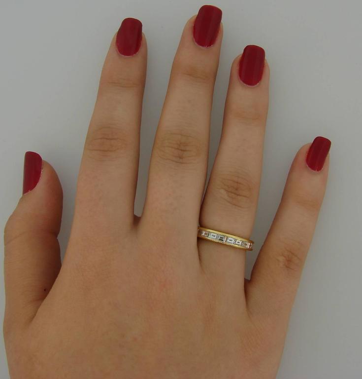 Tiffany & Co. Diamond Yellow Gold Eternity Band Ring 5