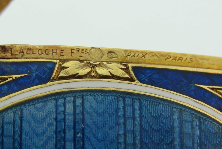 Lacloche Freres Enamel Yellow Gold Pedant with Secret Compartment 7