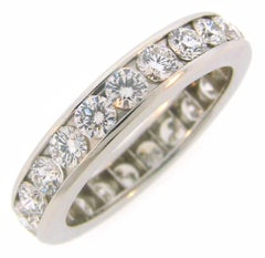 Tiffany & Co. Diamond Platinum Eternity Band Ring