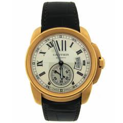 Calibre De Cartier Rose Gold Automatic Wristwatch Ref 88177RX