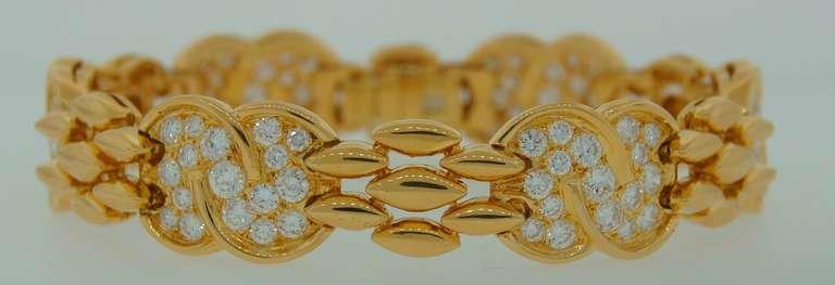 VAN CLEEF & ARPELS Diamond  Yellow Gold Bracelet 3