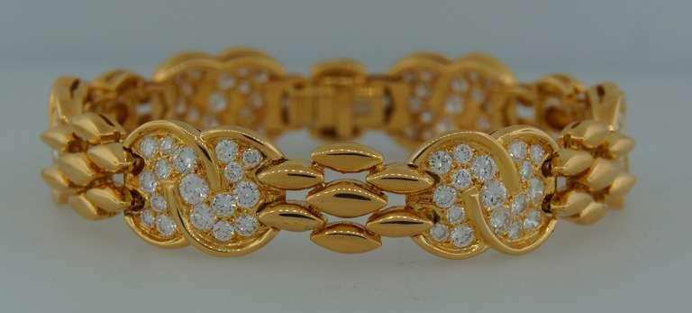 VAN CLEEF & ARPELS Diamond  Yellow Gold Bracelet 4