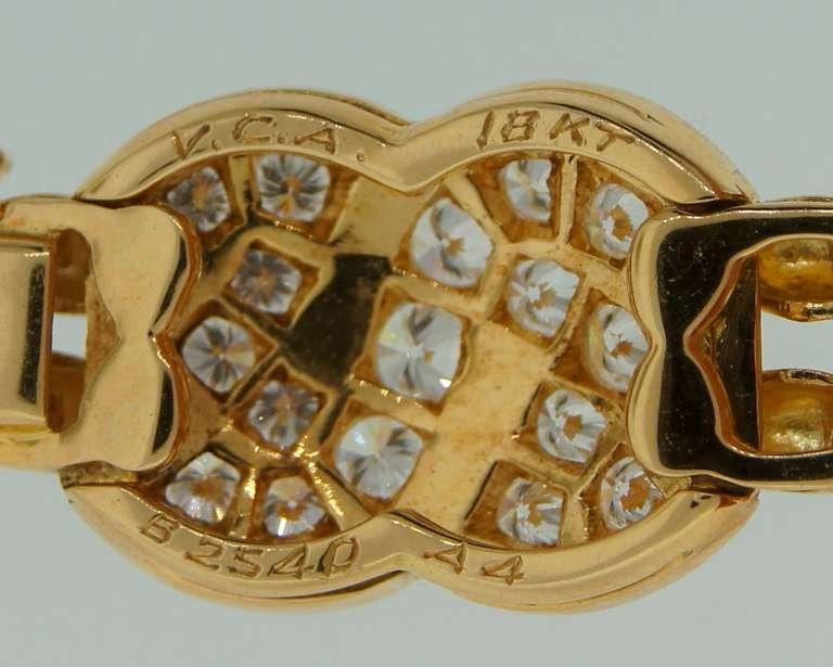 VAN CLEEF & ARPELS Diamond  Yellow Gold Bracelet 6