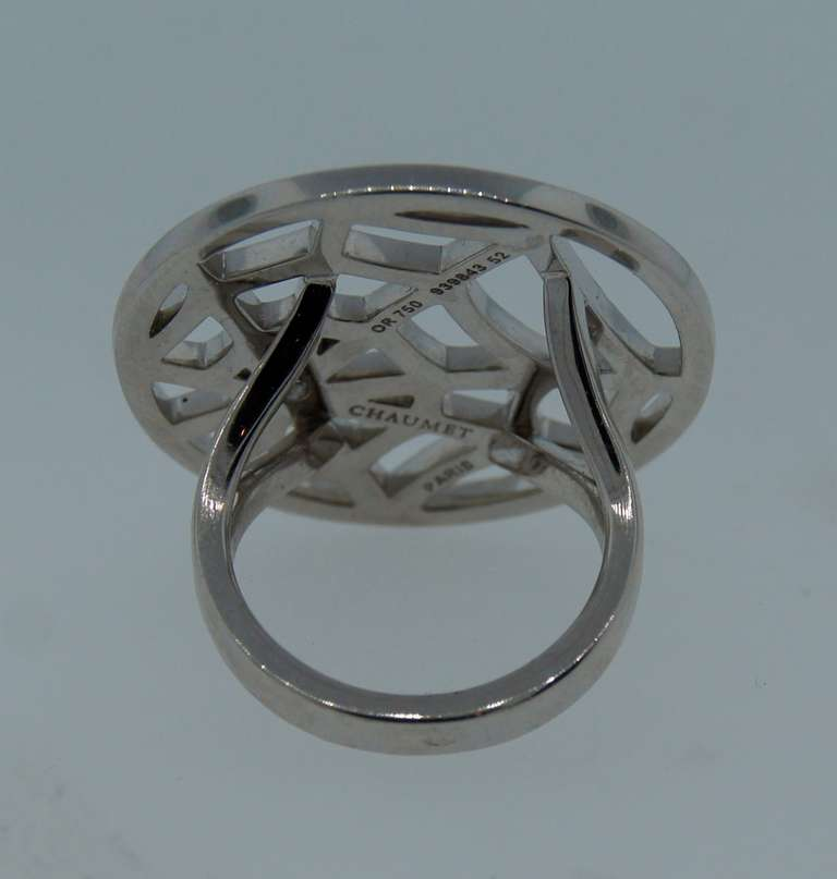 Chaumet Diamond And White Gold Spider Net Ring For Sale At