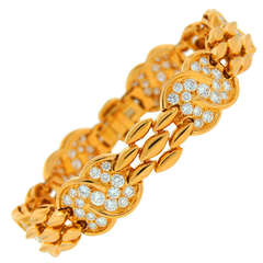 VAN CLEEF & ARPELS Diamond  Yellow Gold Bracelet