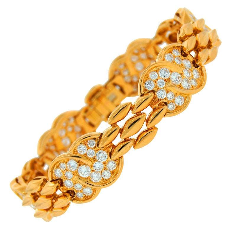 VAN CLEEF & ARPELS Diamond  Yellow Gold Bracelet 1