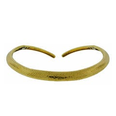 1970s Andrew Clunn Yellow Gold Choker Necklace