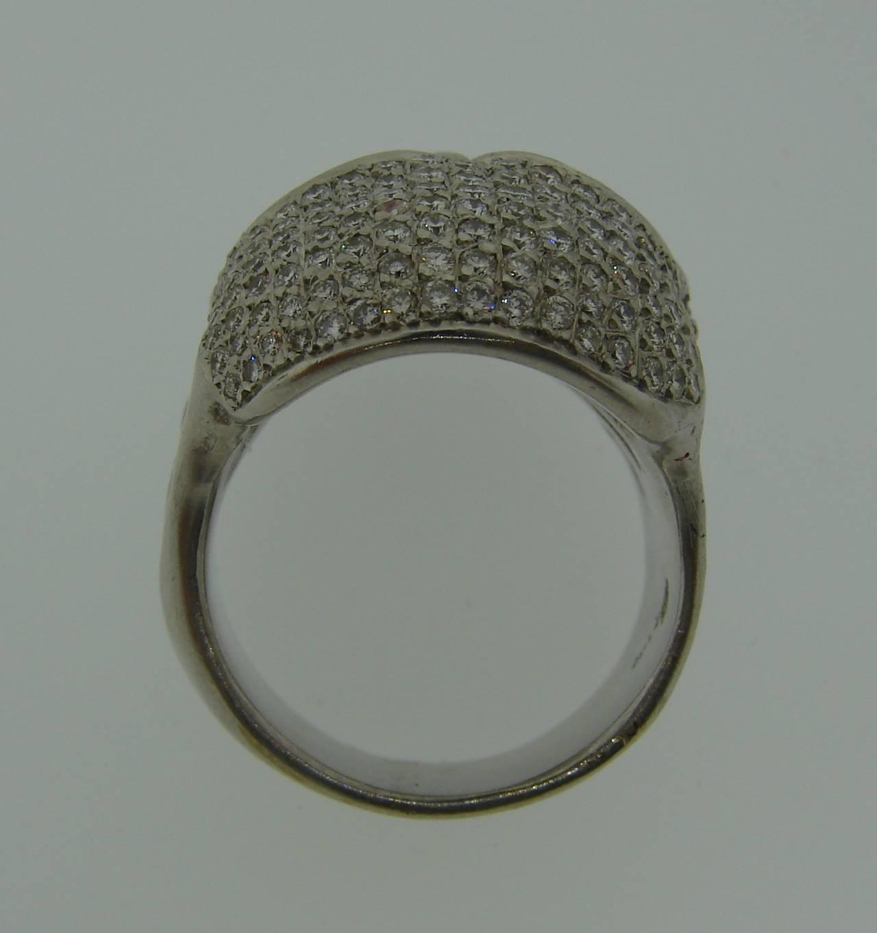Loree Rodkin Diamond White Gold Skull Ring For Sale 3