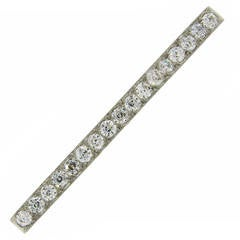 Tiffany & Co. Art Deco Diamond Platinum Tie Bar Pin Brooch