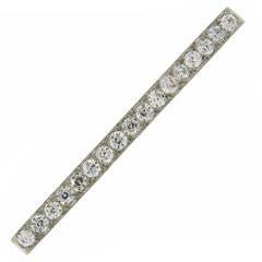 Tiffany & Co. Art Deco Diamond Platinum Tie Bar Pin Brooch