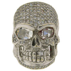 LOREE RODKIN Diamond White Gold Skull Ring