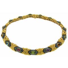 Vacheron Constantin Hematite Gem Set Gold Necklace
