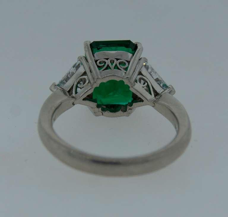 3 70 carat emerald platinum three ring at