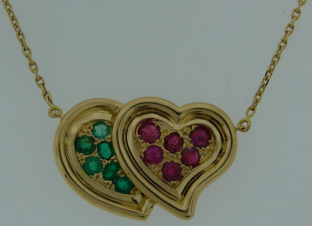 j lovely by ruby boivin more necklace gold pendant created in id rene yellow heart france two emerald features romantic necklaces l jewelry s the