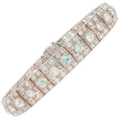 Art Deco Diamond Platinum Bracelet 1910s