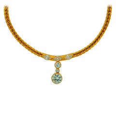 1970s Cartier Diamond Yellow Gold Necklace
