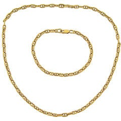 Hermes Yellow Gold Chain Necklace / Bracelet